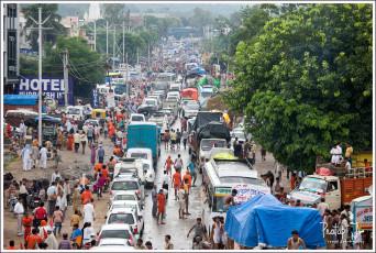 Massive traffic jam from Haridwar to Rishikesh