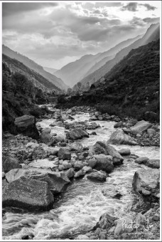 Monochrome Photo of the Osla River