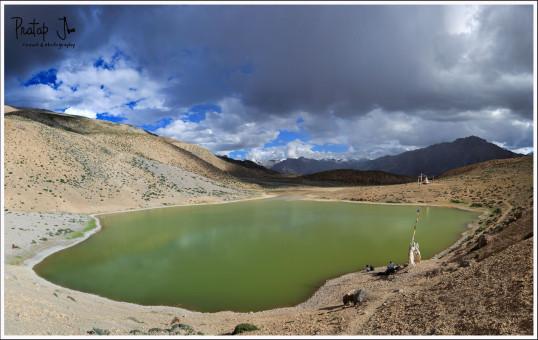 Panorama of Dhankar Lake