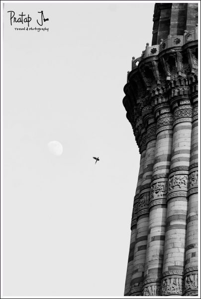 Qutub Minar in Monochrome