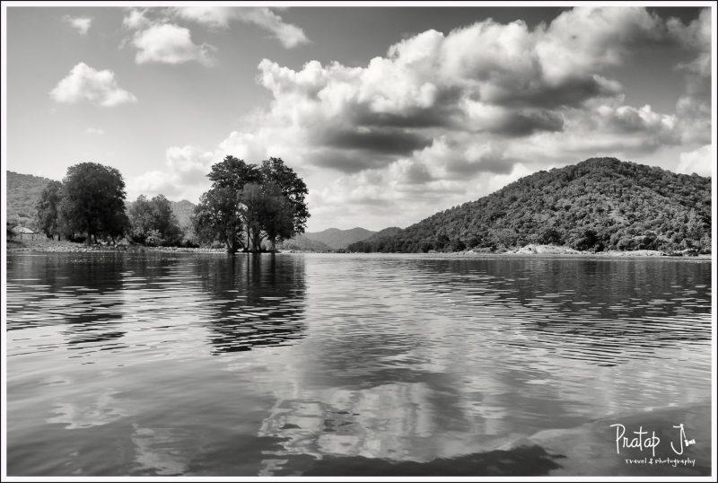 Reflection of the waters at Sangama near Mekedaatu