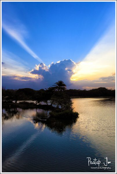 Sunset at Lalbagh in Bangalore
