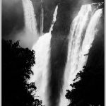 Jog Falls in Black and White
