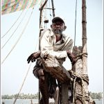 Portrait of a Fisherman near the Chinese Fishing nets at Kochi