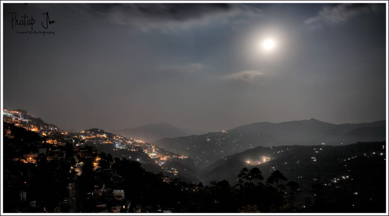 Gangtok on a mooonlit night