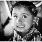 Portrait of a Rabri child in Bhuj