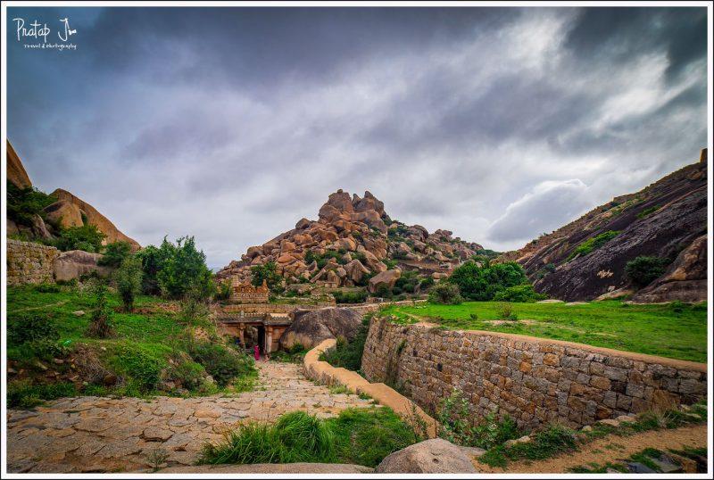 Hillocks wih huge boulders inside Chitradurga Fort