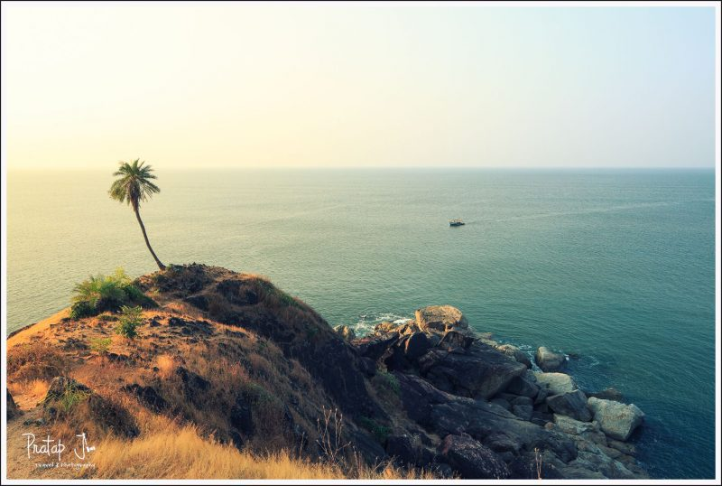 Secret sunset point in Gokarna