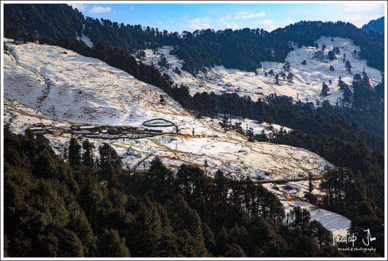 Chopta Campsite in Snow