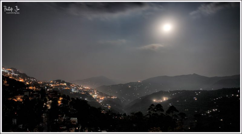 Town of Gangtok Lit by the Moon