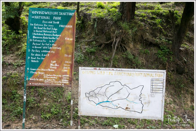 Govindghat Sanctuary Entrance Map