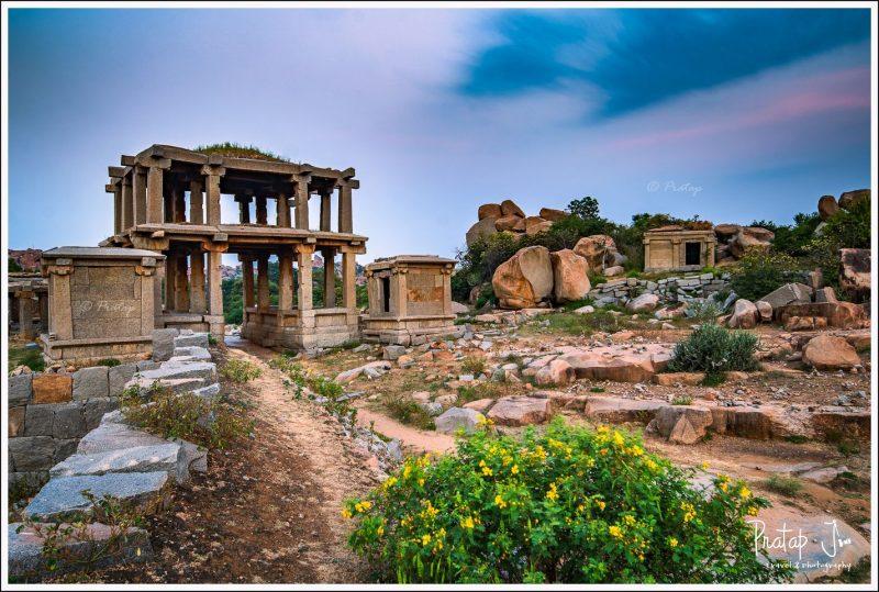 Long exposure photography near the Vitalla temple