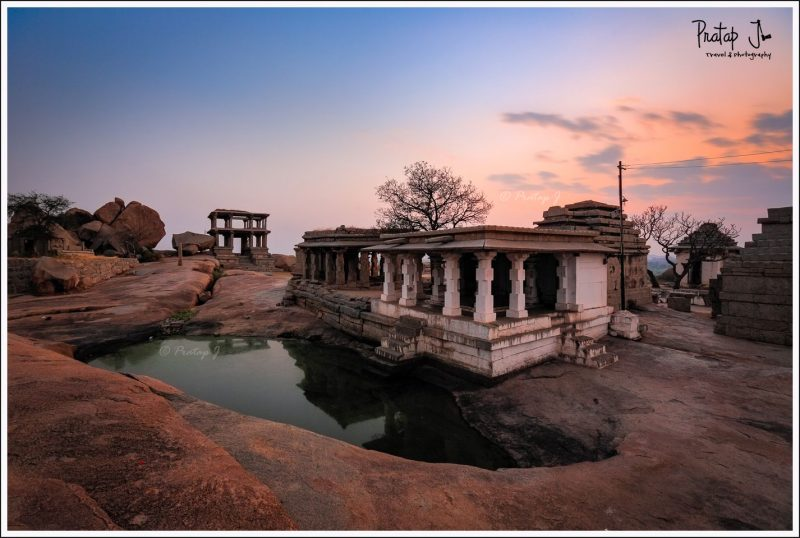 Magical colors at Hemakuta Hill in Hampi