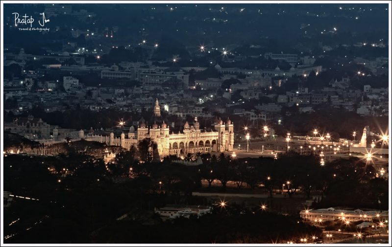 Lights at Mysore Palace during Dussehra