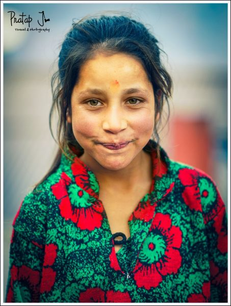 Portrait of a girl from Raithal