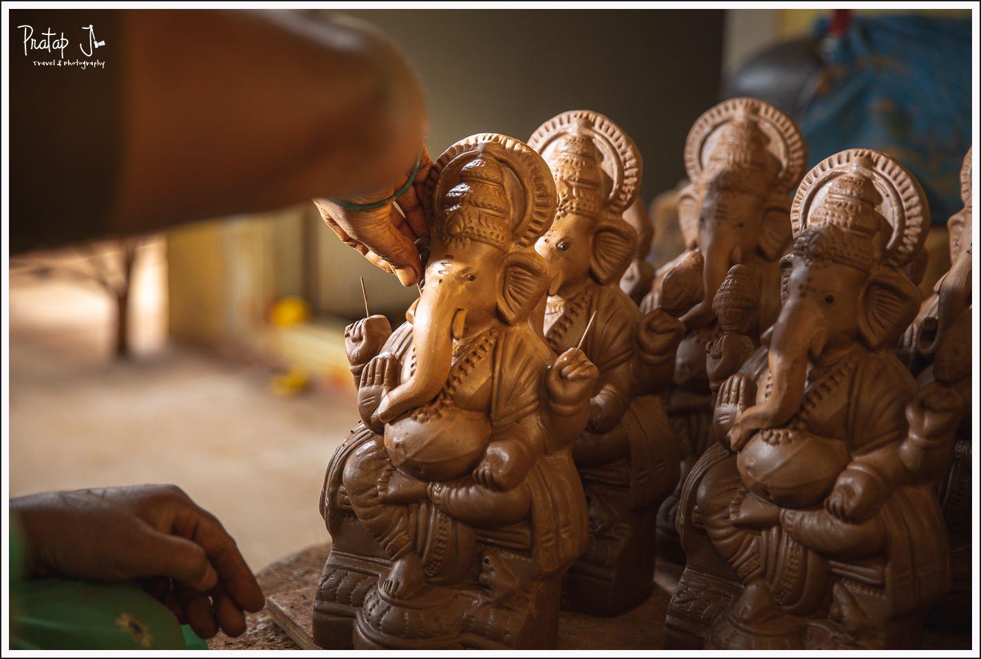 Ganesha idol eyes