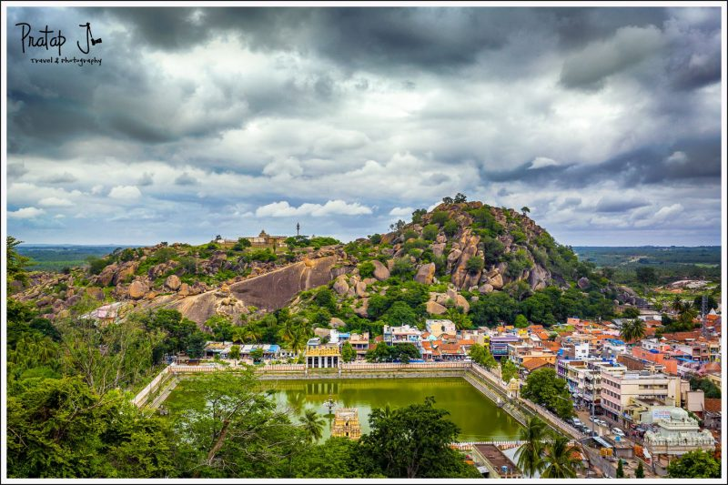 View of the Town of Shravanabelagola and Temple Tank