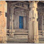 Ancient Pillars near the Kalyani at Melkote