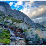 Rocky terrain and streams near Shea Goru