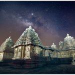Milky Way over an ancient Hindu Hoysala Temple in Karnataka