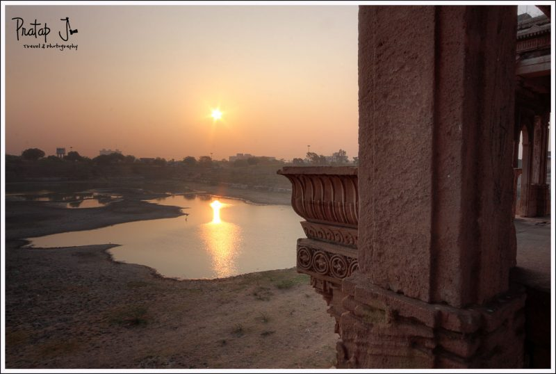 View from the balcony at Sarkhej Roza in Ahmedabad