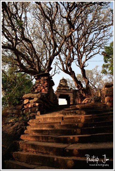 The stairway up to Yoganarasimha Temple in Melkote