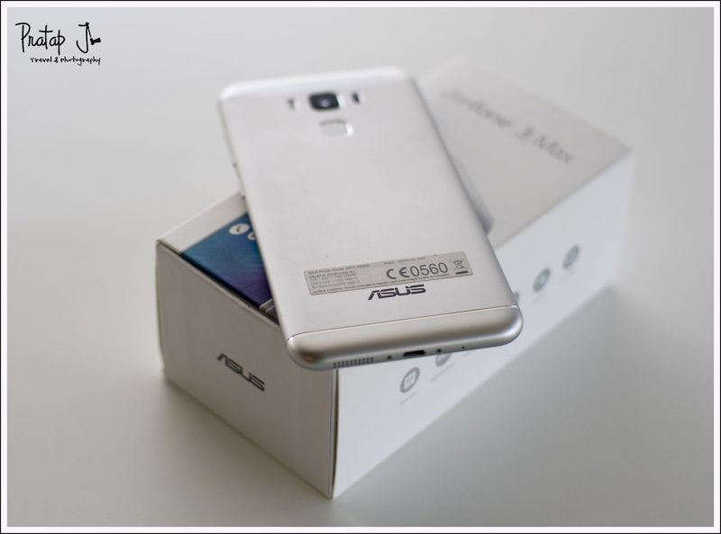 Back view of the Asus Zenphone 3 Max