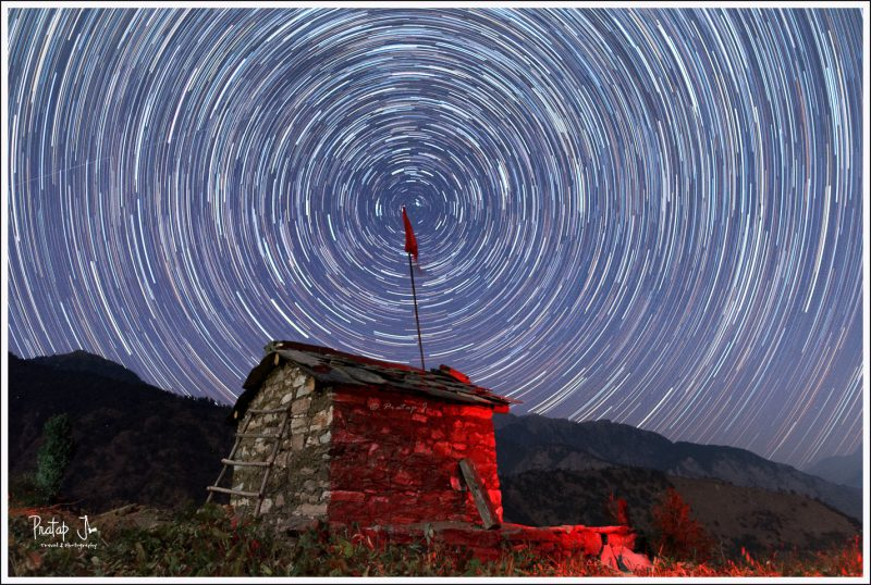 Circular Star Trails