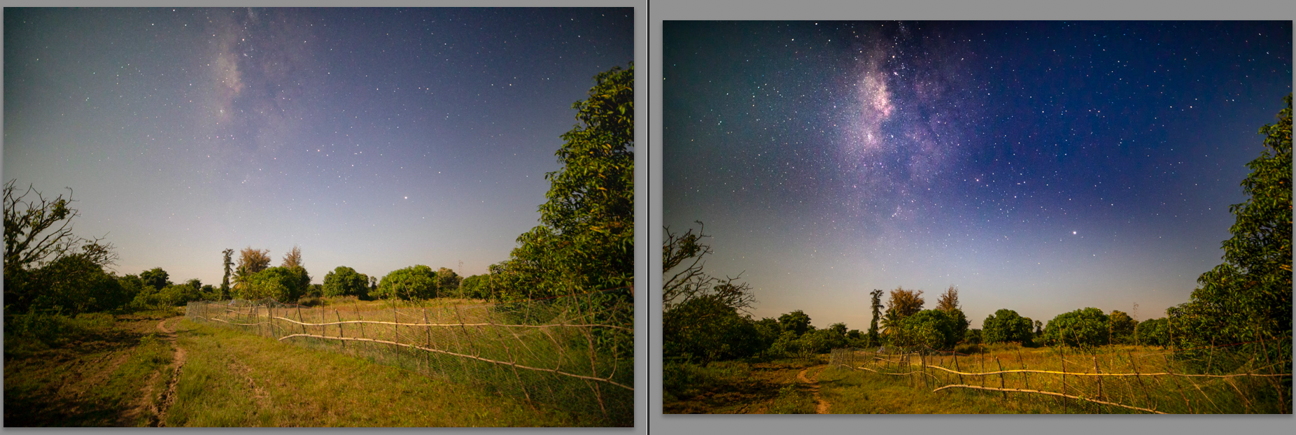 Extracting detail from a photo of the Milky Way