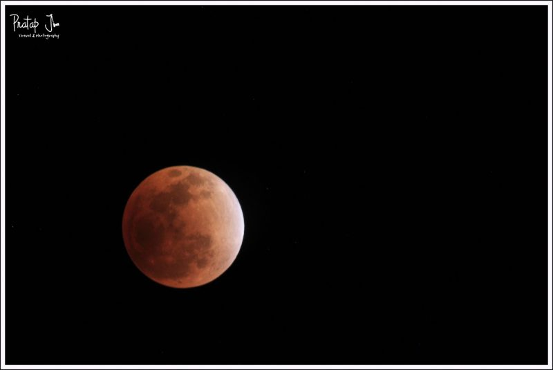 Blood Moon During a Lunar Eclipse