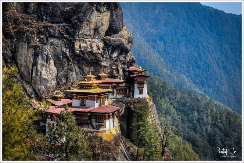 Close up of Tiger Nest Monastery