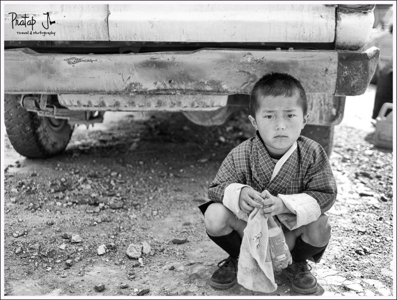 Young boy in Punakha Town