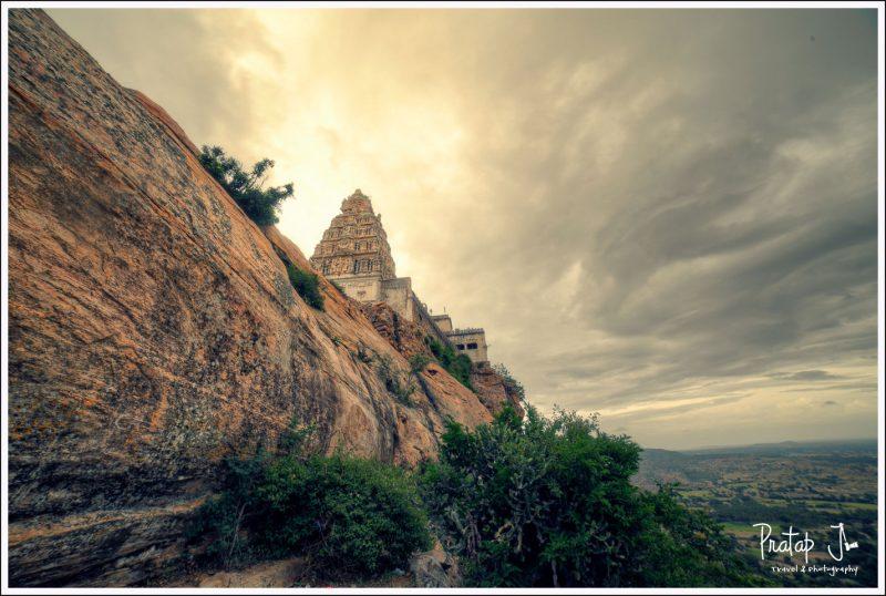 Yoga Narasimha on top of the hill