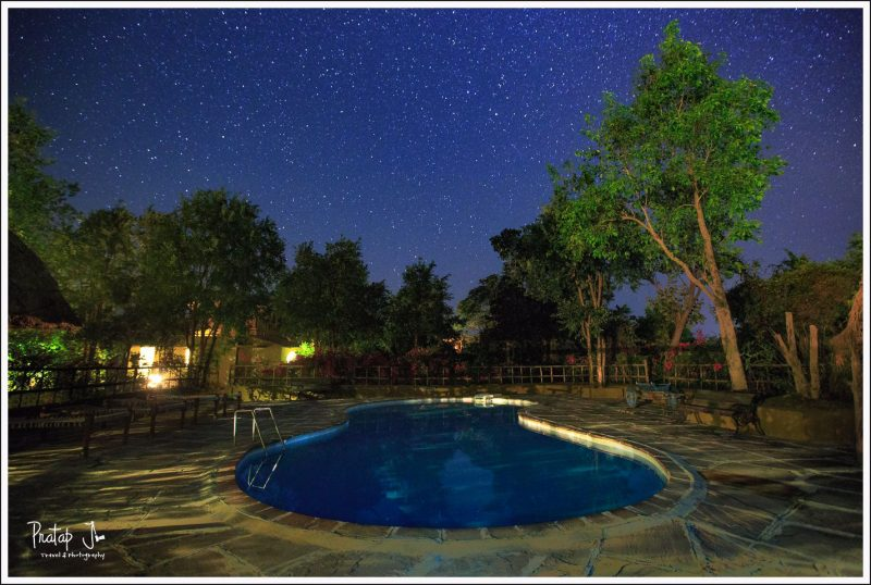 Swimming Pool under Stars